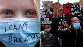 Zákaz protestů kvůli koronaviru? Demonstranty neodradil, Evropa bouří proti rasismu