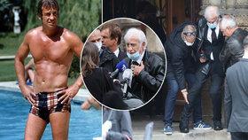 Slavný Belmondo neschopen pohybu: Na pohřeb přítele ho vynesli!