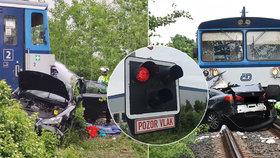 Smrtelná nehoda u Dobrovíze: Kousek za pražským letištěm se srazil vlak s automobilem