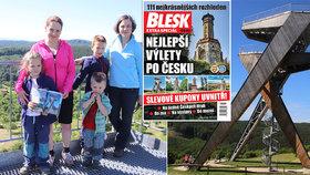 Vydejte se na výlet do okolí 111 nejkrásnějších rozhleden v Česku! Bedekr Blesku právě v prodeji