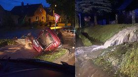 Povodňové drama na Olomoucku, sledujte radar Blesku. Jedna oběť, po babičce (74) pátrá vrtulník