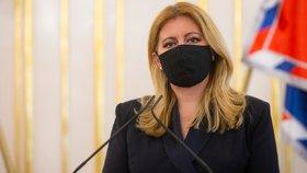 Čaputová zůstává v domácí karanténě. Slovenská prezidentka už zná výsledky testů