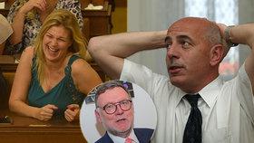 """Šarapatka v Radě ČT ustál útok Babišovy blondýny. """"Kádrovák"""" Berkovec si křeslo drží dál a omlouvá se"""