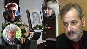 Uplakaný Troška, spolužačka Švandová neměla slov! Jak vypadal pohřeb výtvarníka Růžičky?