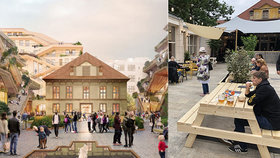 Vnitroblok v paláci Savarin ožívá. Oáza klidu v centru Prahy láká na občerstvení a zahradu