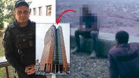 Mladík chtěl skočit z nejvyššího mrakodrapu v ČR: Policista mu pád do hloubky 90 metrů rozmluvil