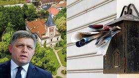 Za Ficovým luxusním zámečkem je i invalidní důchodce z Prahy. Dluží 63 milionů
