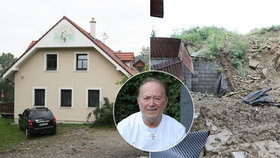 Děsivý sesuv půdy u domu Petra Jandy (78)!  Milionové škody
