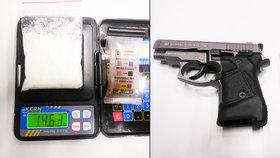 Pistole, drogy a spousta peněz! Policisté náhodně kontrolovali týpka v centru Prahy, čekalo je překvapení