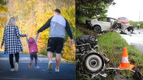 Rodiče Viktorky (4) zahynuli při nehodě u Černožic: Jak je na tom zraněná holčička?