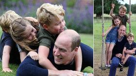 William spojil svoje narozeniny se Dnem otců: Kate fotila, princ dováděl s dětmi!