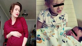 Překvapení dvojnásobné mámy Zahradnické: Senzační reakce dcery na miminko!