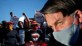 Prezident musí nosit roušku, nařídil soud Bolsonarovi. Jinak ho čeká tučná pokuta