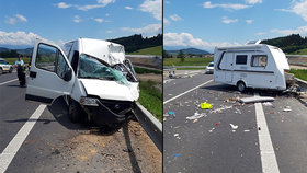 Od českého auta se za jízdy uvolnil karavan: Zabil muže (†44) v dodávce!