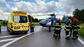Při tragické nehodě na Českolipsku zemřel člověk: Zasahoval i vrtulník