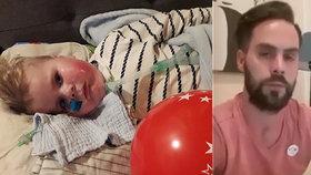"""Rodiče Oliverka (22 měs.), který měl dostat lék za 51 milionů: """"Řekli nám, ať ho necháme odejít"""""""