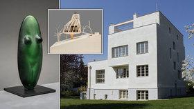 Unikátní vily a skulptury ze skla. Winternitzova vila představuje Evu Eisler a Jana Šépku