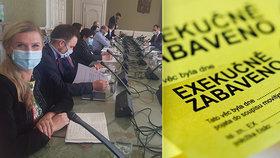 """""""Lidé přišli i o dům."""" Farský kritizuje nezákonné exekuce, Benešová ukázala na soud"""
