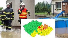 Děti evakuovali z tábora, velká voda zahrozila v řadě krajů. Sledujte radar Blesku