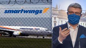 Radost i vyhazov až 600 lidí ve Smartwings. Vláda schválila podporu pro větší podniky