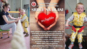 """Malý bojovník František trpí mozkovou obrnou: Lidé se mu skládají na """"kosmickou rehabilitaci"""""""