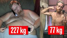 Morbidně obézní muž shodil 150 kg: Zhubnout se mu podařilo bez cvičení!