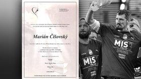 Vysílali jsme: Plzeň se loučila s bojovníkem Mariánem Čišovským (†40)