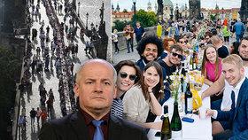 """Oslava na Karlově mostě: Prymula se nestačí divit, Kalousek si rýpl do """"hlupáka"""" i Feriho"""