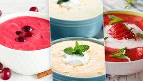 V létě vsaďte na ovocné polévky: 4 dokonalé recepty s broskvemi, jahodami a vínem!
