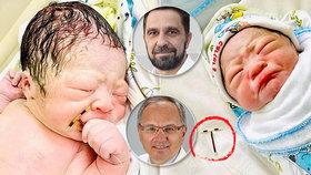 Tak moc chtěl na svět! Nitroděložní tělísko selhalo, chlapeček ho po porodu držel v ruce!
