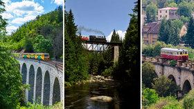 Nejhezčí železniční tratě Česka: Projeďte se Posázavským Pacifikem nebo objevte Kryštofovo údolí!