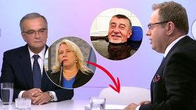 Dostálovou v ČT zastoupila židle, lázeňské vouchery schytaly kritiku a Babiš skončil v bahně
