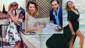 Zbohatlíci vyrazili do světa: Česká výživová specialistka Gabriela Peacocková a další si užívají odpírané luxusní dovolené