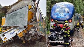 Při srážce vlaků u Perninku se zranili 3 pracovníci ČD: Kolegové pro ně vyhlásili veřejnou sbírku
