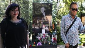 Návštěvy u Gottova hrobu (†80): Co vzkázala Rezková, Rokl a další?