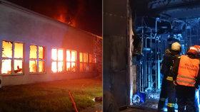 Požár v Táboře hasiči likvidovali hodiny: Uvnitř budovy byly tuny chemikálií