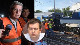 Další tragická srážka vlaků: Havlíček odmítá rezignaci, Babiš ho hájí, opozice pochybuje