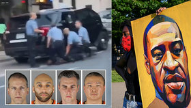 """""""Nejsem špatný člověk,"""" říkal umírající Floyd (†46). Klečeli na něm tři policisté, odhalilo video"""