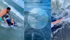 Na chlapečka v moři si brousil zuby žralok! Na poslední chvíli ho zachránil policista