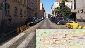 Více stromů, méně hluku v zatížené Slezské ulici: Praha 3 vypsala tendr na koncepční studii