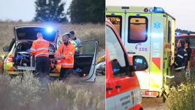 Vážná nehoda na Benešovsku: Po střetu motorky a čtyřkolky tři zranění! Mezi nimi i dvě děti