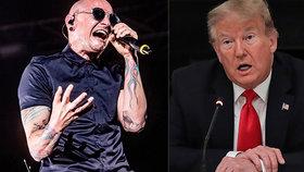 """Linkin Park zatrhli Trumpovi svou muziku. """"Je horší než terorismus,"""" říkal Chester (†41)"""