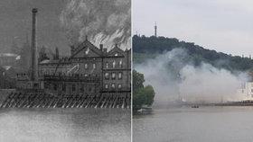 Hoří! Požáry spalovaly Sovovy mlýny na Kampě v Praze i v historii: Naposledy tu hořelo letos v červenci