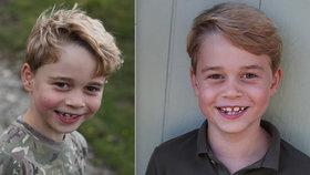 Princ George slaví 7. narozeniny. Kate mu vyfotila roztomilou mezírku mezi zuby! Co to obyčejné triko?