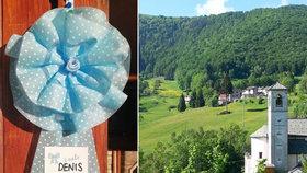 Nejmenší vesnice v Itálii přivítala po osmi letech nového občánka. Malý Denis, velká party!