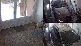 Muž vjel v Prostějově úmyslně plnou rychlostí do paneláku: Vchod úplně zdemoloval!