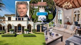 Rocková hvězda Jon Bon Jovi: Za miliardu koupil luxusní sídlo v Palm Beach!