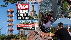 Šachová dáma v Olešnici láká turisty: Orlické hory jako na dlani a výhled až do Polska!