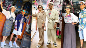 Luxusní styling staroušků: Pár seniorů ukazuje skvělé outfity z oblečení zapomenutého v prádelně!
