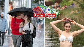 Lijáky v Čechách, hrozí i bouřky, sledujte radar Blesku. Čekají nás tropické týdny